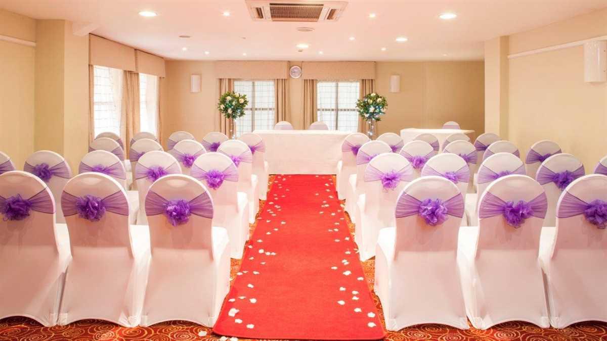 Holiday Inn Rotherham Sheffield Wedding Venue Reception